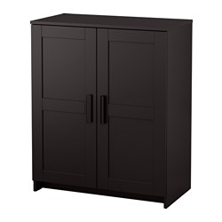 BRIMNES cabinet with doors, black