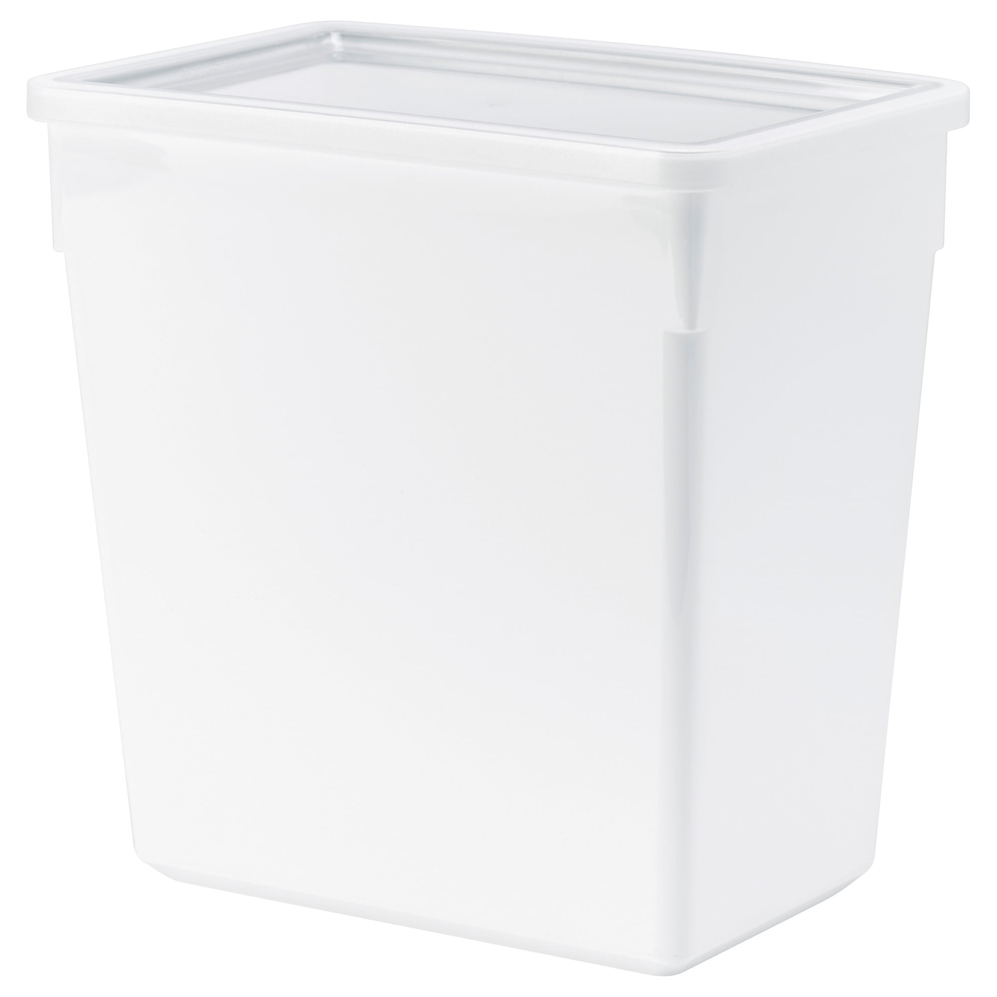 TILLSLUTA dry food jar with lid, white Length: 9