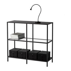 vittsj regal schwarzbraun glas 100x93 cm ikea. Black Bedroom Furniture Sets. Home Design Ideas