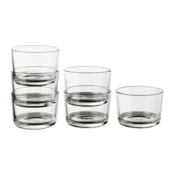 IKEA 365+ glass, clear glass Height: 6 cm Volume: 18 cl Package quantity: 6 pack