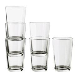 IKEA 365+ glass, clear glass Height: 13.5 cm Volume: 45 cl Package quantity: 6 pack