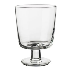 IKEA 365+ goblet, clear glass