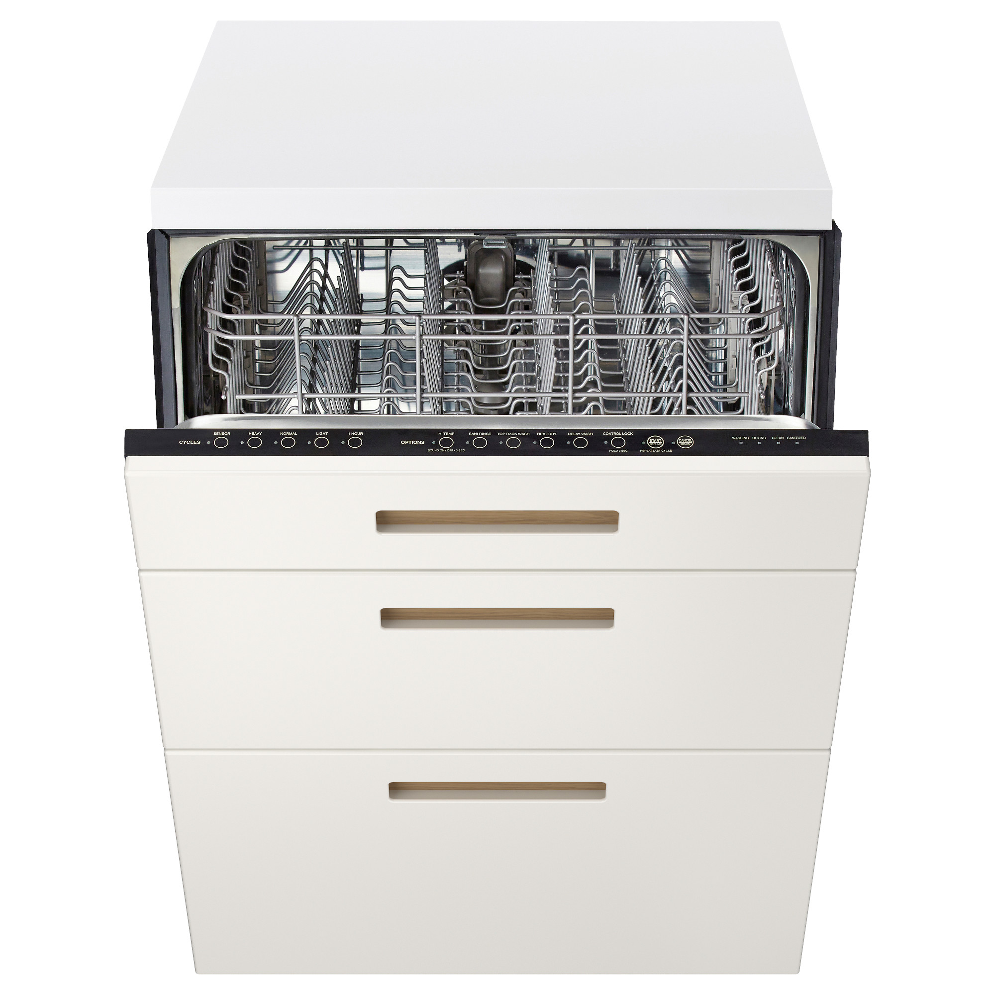 renlig built-in dishwasher with 2 fronts - ringhult white - ikea