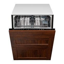 "RENLIG integrated dishwasher with 3 fronts, Edserum brown Width: 24 "" System, depth: 24 "" Depth: 24 3/4 "" Width: 61.0 cm System, depth: 61 cm Depth: 62.8 cm"