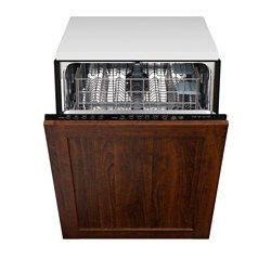 "RENLIG integrated dishwasher with door, Edserum brown Width: 24 "" System, depth: 24 "" Depth: 24 3/4 "" Width: 61.0 cm System, depth: 61 cm Depth: 62.8 cm"