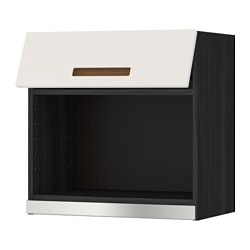 METOD wall cabinet for microwave oven, Märsta white, black Width: 60.0 cm Depth: 38.9 cm Height: 60.0 cm