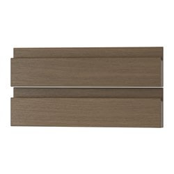 VOXTORP drawer front, walnut effect Width: 39.6 cm Height: 9.7 cm Thickness: 2.1 cm