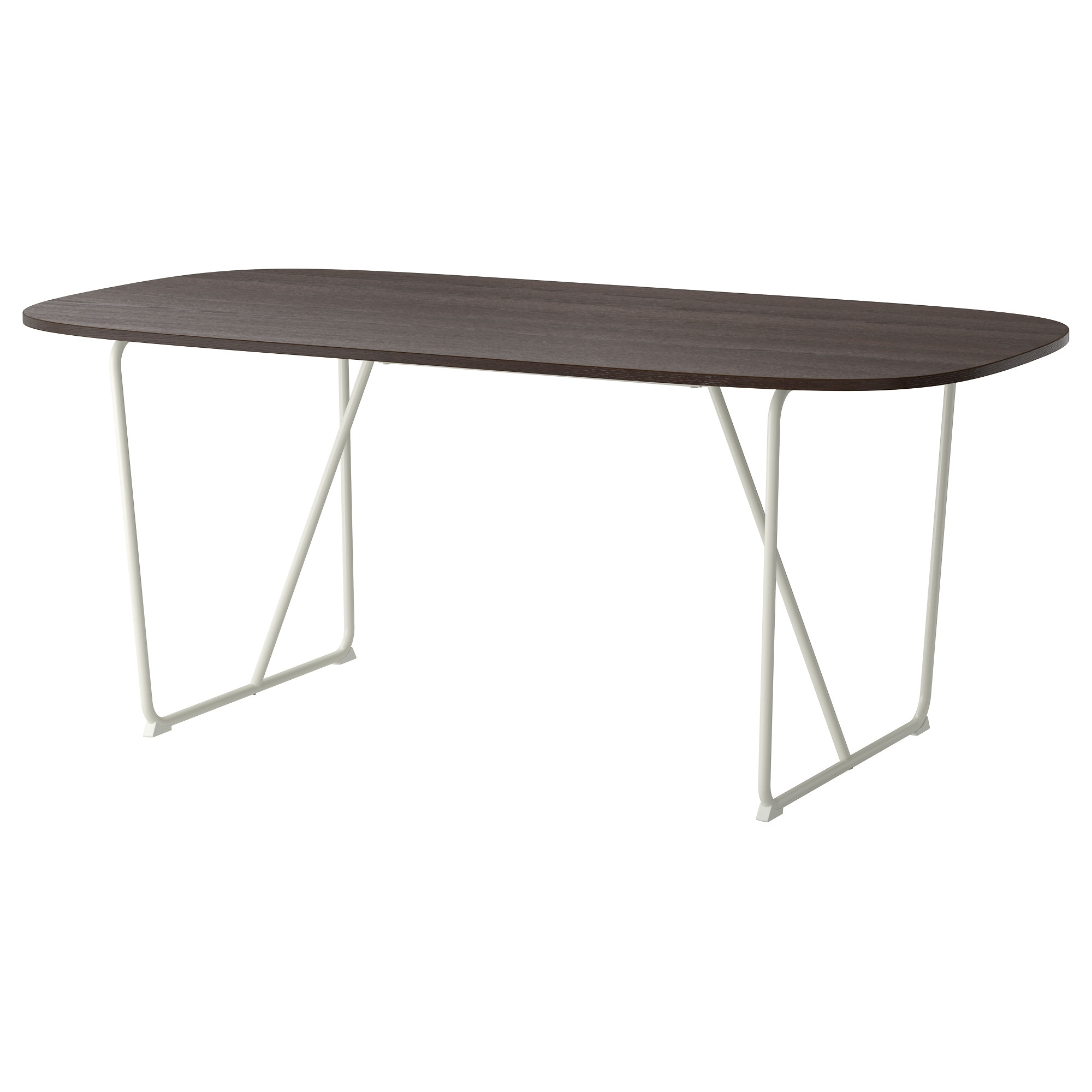 Ikea dining table white - Oppeby Table Dark Brown White Backaryd Dark Brown White Length 72 7