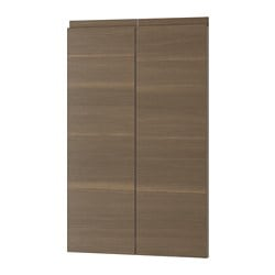VOXTORP 2-p door f corner base cabinet set, right-hand, walnut effect Width: 25.3 cm Height: 79.7 cm Thickness: 2.1 cm