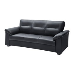 "KNISLINGE sofa, Idhult black Width: 80 3/4 "" Depth: 35 "" Height under furniture: 3 1/8 "" Width: 205 cm Depth: 89 cm Height under furniture: 8 cm"