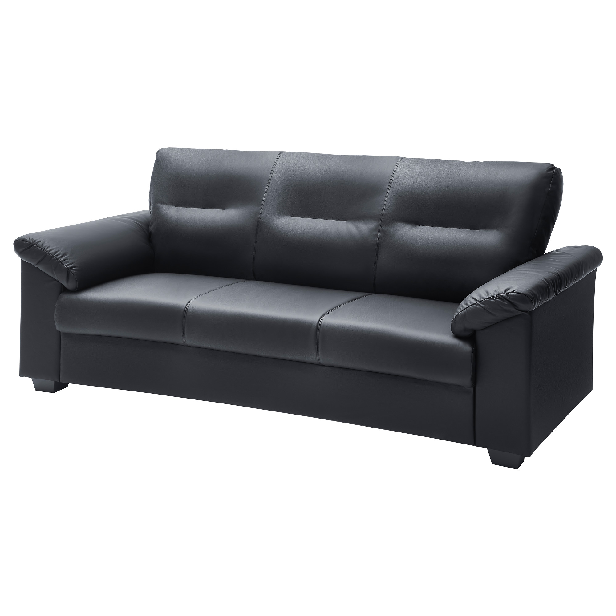 KNISLINGE sofa  Idhult black Width  80 3 4   Depth  35. Leather   Faux Leather Couches  Chairs   Ottomans   IKEA