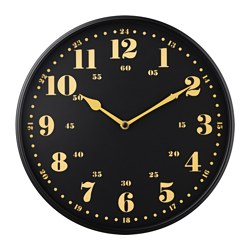 DASSIGT wall clock, black Diameter: 32 cm