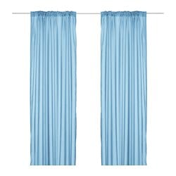 TORHILD sheer curtains, 1 pair, light blue Length: 300 cm Width: 145 cm Weight: 0.70 kg