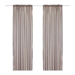 TORHILD sheer curtains, 1 pair, light brown Length: 300 cm Width: 145 cm Weight: 0.70 kg