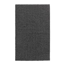 OPLEV door mat, indoor/outdoor gray