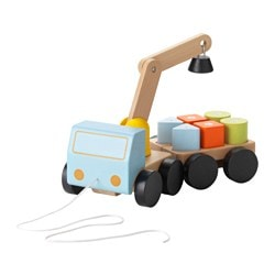 MULA crane with blocks, multicolour, beech