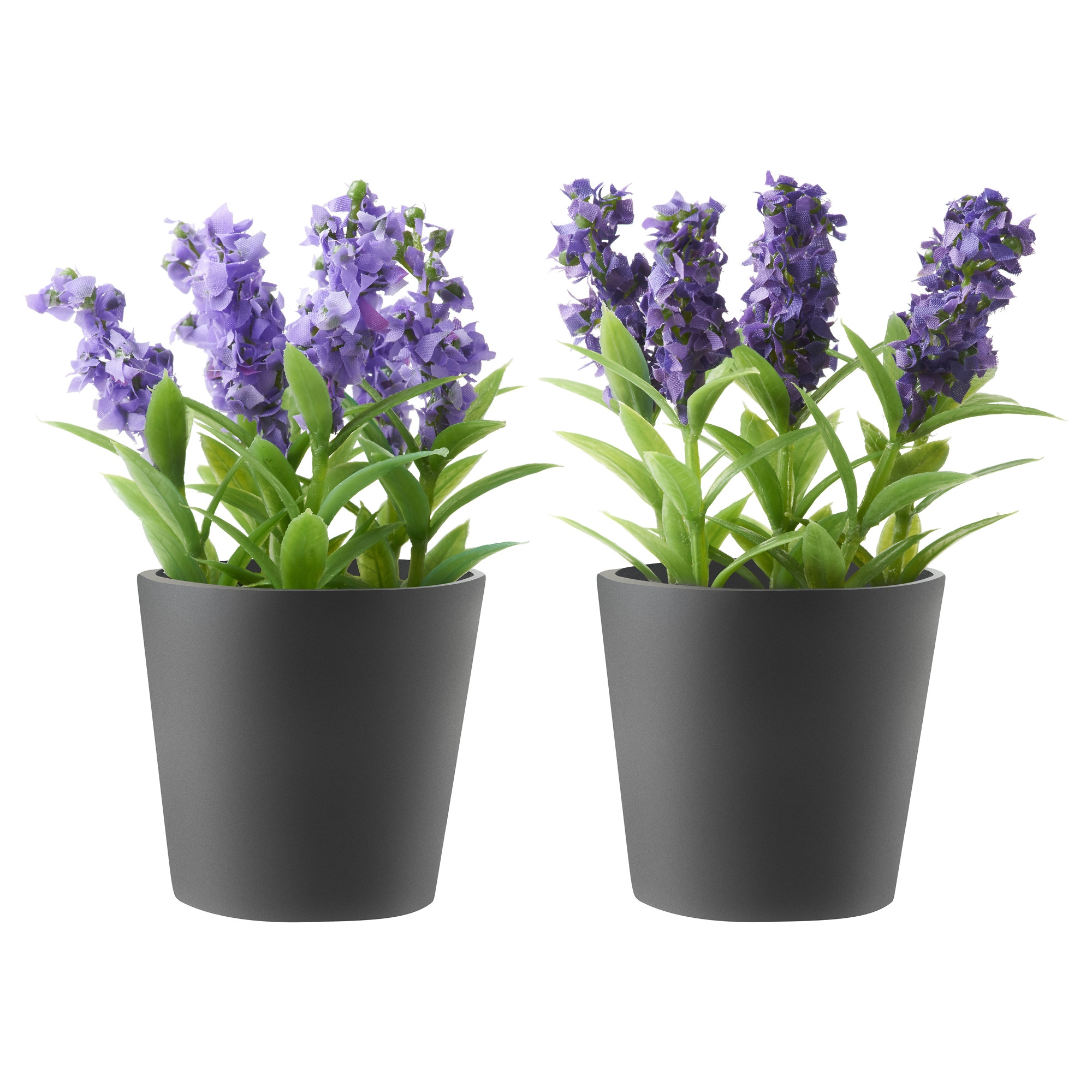 porst artificial potted plant with pot assorted colours lavender height 13 cm diameter of