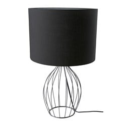 "HOLMLIDEN table lamp, black Height: 24 "" Shade diameter: 13 3/4 "" Height: 60 cm Shade diameter: 35 cm"