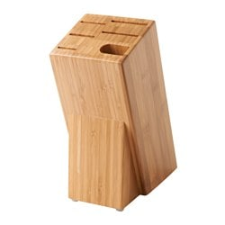 "HYVLA knife block, bamboo Width: 4 "" Height: 10 "" Width: 10 cm Height: 25 cm"