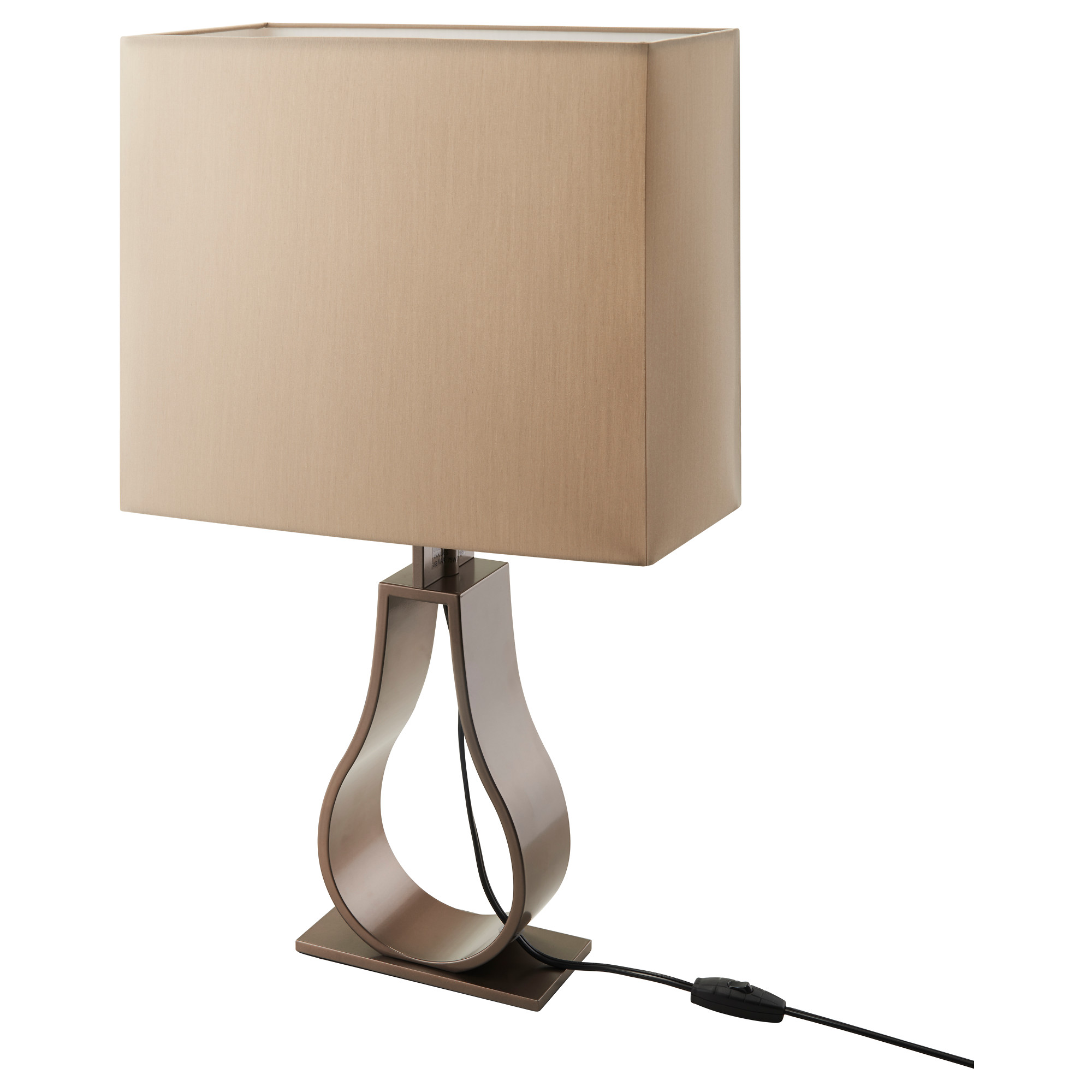 Table lamps ikea klabb table lamp with led bulb light brown bronze color height 24 geotapseo Image collections