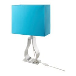 "KLABB table lamp, turquoise Height: 24 "" Cord length: 5 ' 7 "" Height: 60 cm Cord length: 1.7 m"