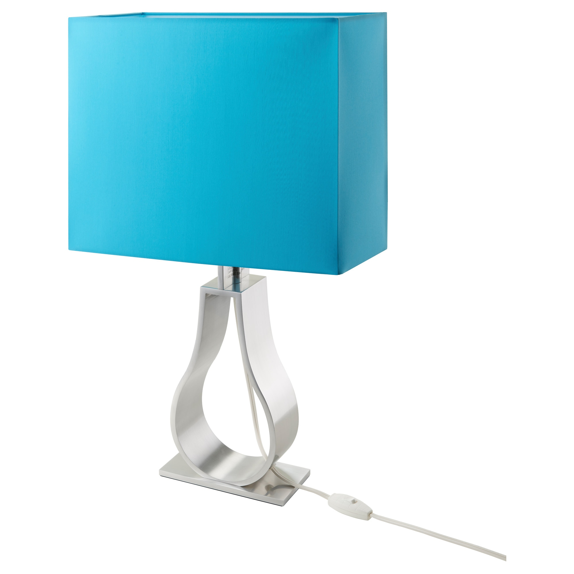 Lamp On Table: KLABB table lamp with LED bulb, turquoise Height: 24
