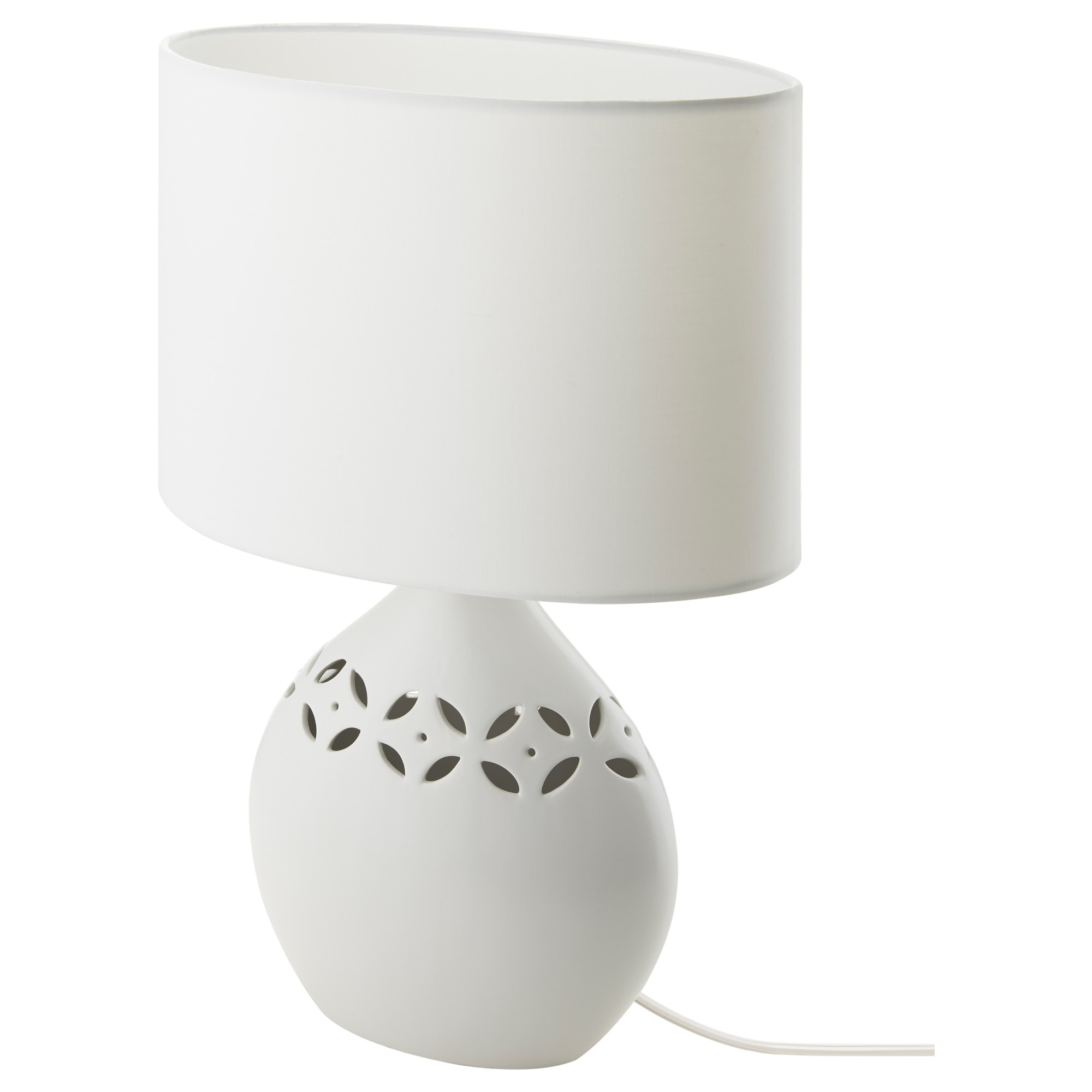 White Table Lamp - Kv ve table lamp ceramic white height 17