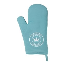OMVÄXLANDE oven glove, turquoise Length: 30 cm