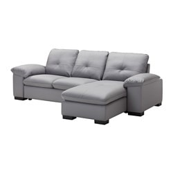 "DAGSTORP sectional, 3 seat right, Laglig gray Width: 99 5/8 "" Depth: 62 1/4 "" Height: 32 1/4 "" Width: 253 cm Depth: 158 cm Height: 82 cm"