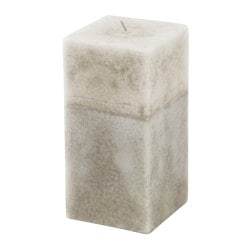 ANSÖKA scented block candle, beige, Vanilla wood Diameter: 7 cm Height: 14 cm Burning time: 45 hr