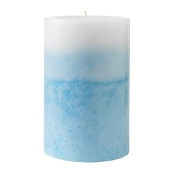 ESTIMERA scented block candle, blue, Blossoming jasmine Diameter: 9 cm Height: 14 cm Burning time: 55 hr