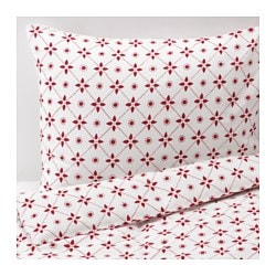 VINTER 2015 quilt cover and 4 pillowcases, red Pillowcase quantity: 4 pack Quilt cover length: 220 cm Quilt cover width: 240 cm