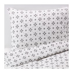 VINTER 2015 quilt cover and 4 pillowcases, grey Pillowcase quantity: 4 pack Quilt cover length: 220 cm Quilt cover width: 240 cm