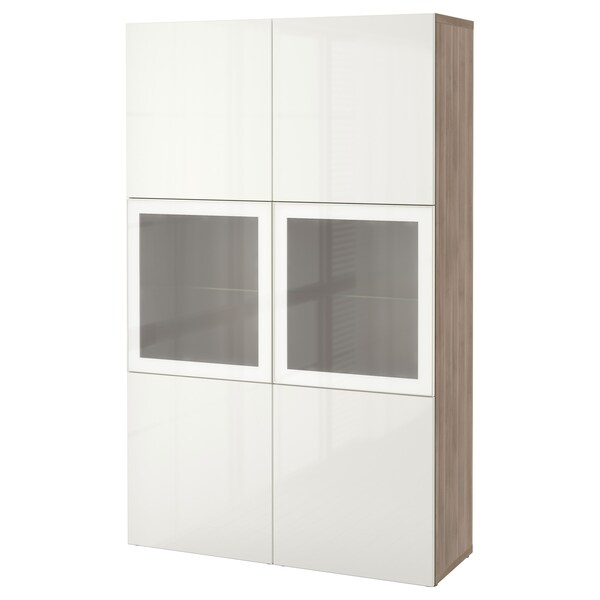 best vitrine grau las nussbaumnachb selsviken hochglanz frostglas wei ikea. Black Bedroom Furniture Sets. Home Design Ideas