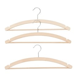 GLUNKA hanger, natural Width: 43 cm Package quantity: 3 pieces