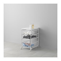 ALGOT frame/wire baskets/top shelf/castor, white Width: 41 cm Depth: 60 cm Height: 78 cm