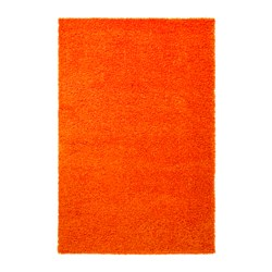 HAMPEN rug, high pile, orange Length: 195 cm Width: 133 cm Area: 2.59 m²