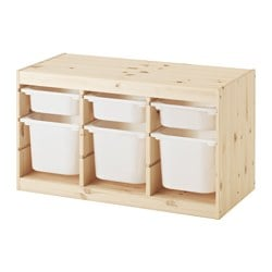 TROFAST Storage combination with boxes $80.99