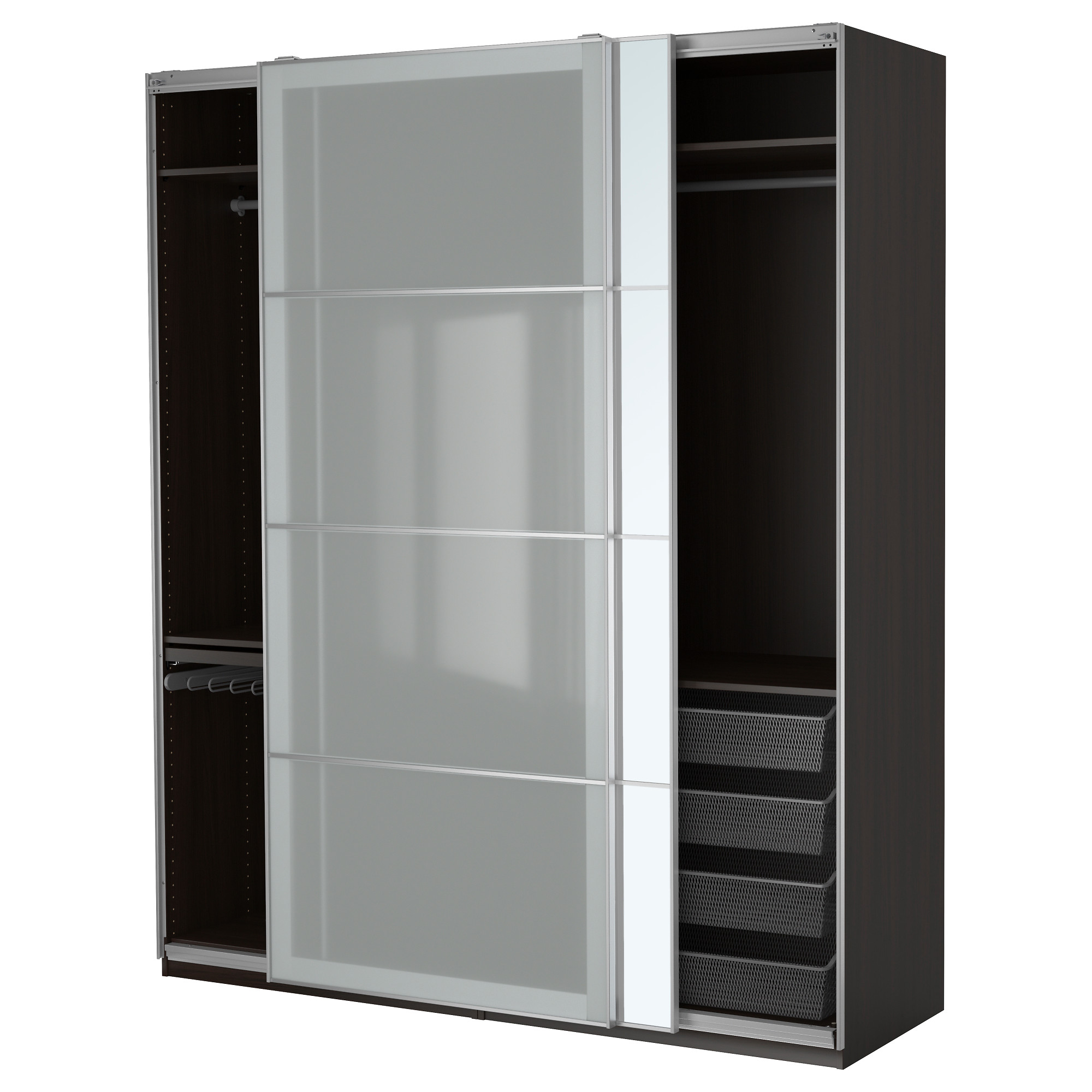 Armoire chambre porte coulissante for Ikea armoire porte coulissante