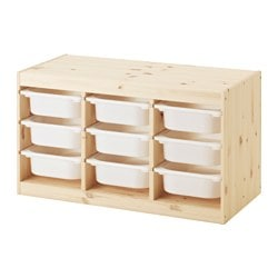 TROFAST Storage combination with boxes $86.99