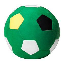 "SPARKA soft toy, green football, green Diameter: 7 ¾ "" Package quantity: 1 pack Diameter: 20 cm Package quantity: 1 pack"