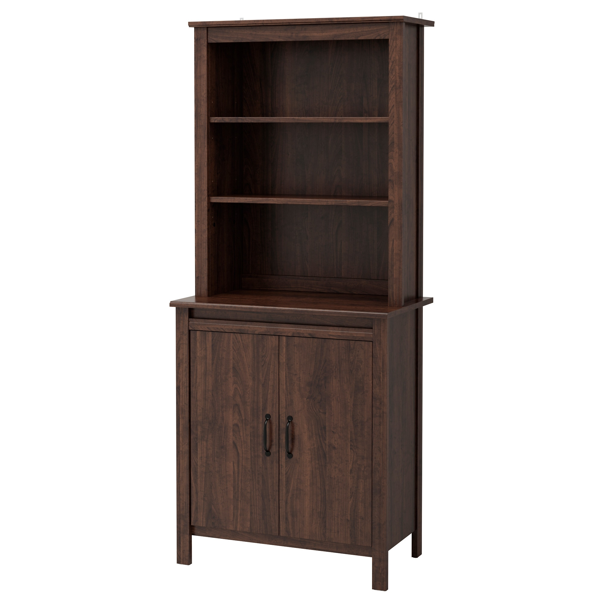 BRUSALI high cabinet with doors  brown Width  31 1 2   Depth. Cabinets   Sideboards   IKEA