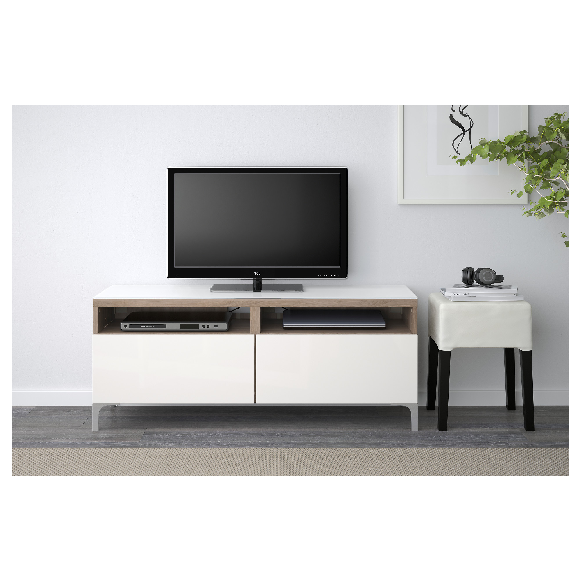Best Tv Unit With Drawers White Selsviken High Gloss White  # Meuble Tv Miami