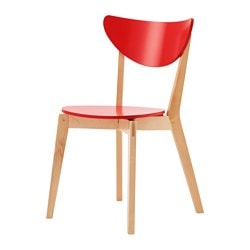 NORDMYRA chaise, rouge