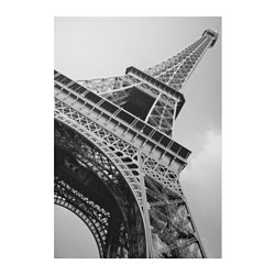 "BASSHOLMA picture, Eiffel Tower Width: 78 ¾ "" Height: 55 "" Width: 200 cm Height: 140 cm"