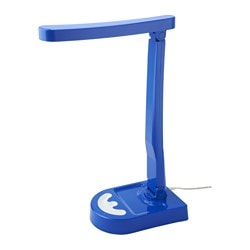 HARALIDEN LED table lamp, blue/white, dimmable Height: 42 cm Cord length: 2.0 m
