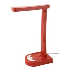 HARALIDEN LED table lamp, red/white, dimmable Height: 42 cm Cord length: 2.0 m