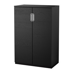 GALANT cabinet with doors, black-brown Width: 80 cm Depth: 45 cm Height: 120 cm