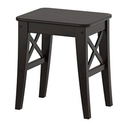INGOLF stool, brown-black Tested for: 100 kg Seat width: 40 cm Seat depth: 30 cm