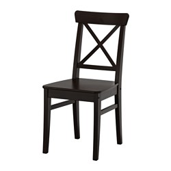 INGOLF chair, brown-black Tested for: 100 kg Width: 43 cm Depth: 52 cm